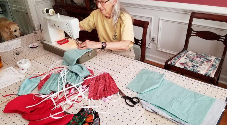 Beth Copeland sewing