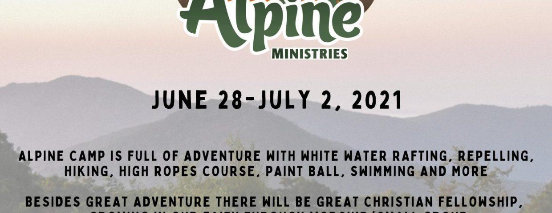 High School Summer Adventure Camp 2021 Mt Hope Alpine Ministries